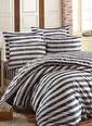 Eponj Home Kolay Ütülenir Nevresim Takımı Çift Kişilik B&W Hook  Siyah